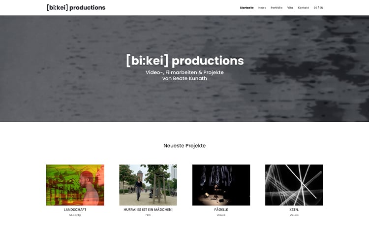 [bi:kei] productions Website