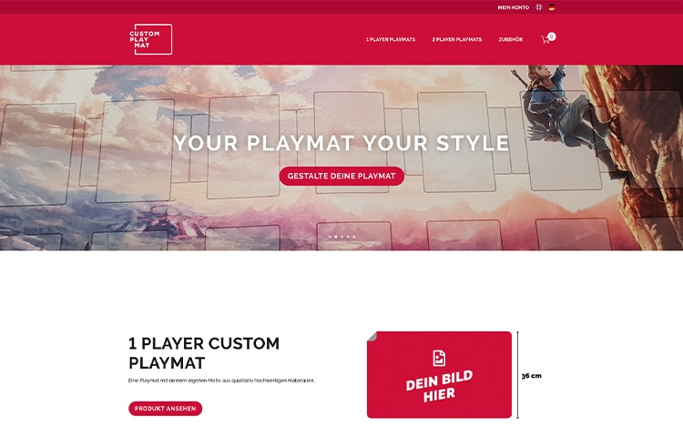 Custom Playmat eCommerce Website