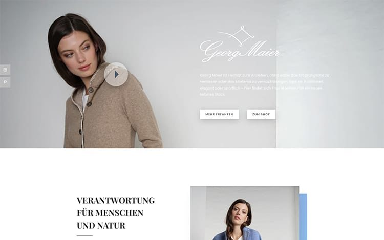 Georg Maier Onepage Website