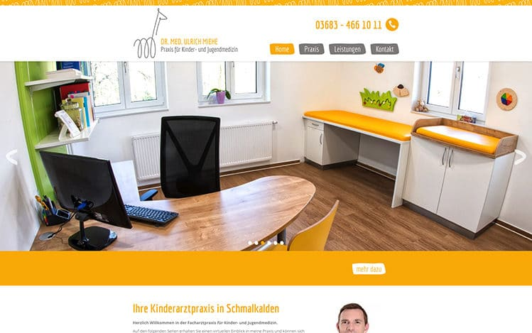 Kinderarzt Miehe Website