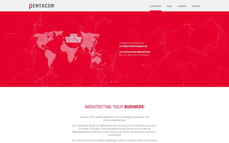 Pentacor Website
