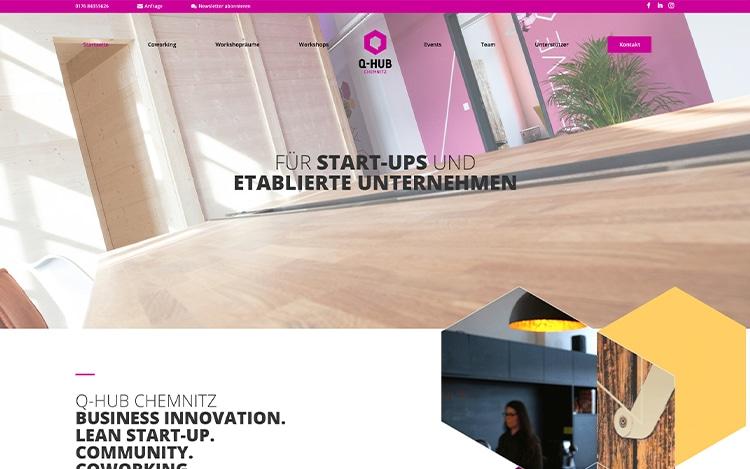 Q-Hub Chemnitz Website